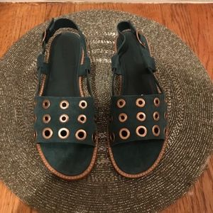 JCREW Dark Teal Sandals